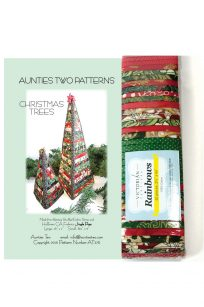Christmas Trees by Auntie's Two Victorian Textiles Pattern Fabric Kit Selection Red Green Instructional Videos Australia Retailer Dealer Discount Postage