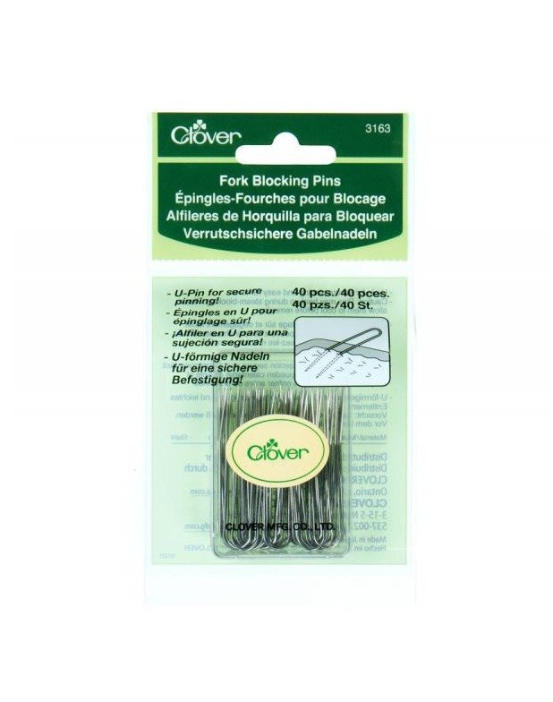 Clover Fork Blocking Pins U-Shaped 40pc Punch with Judy Birch Haberdashery Creative Spotlight Australia Retailer Dealer Discount