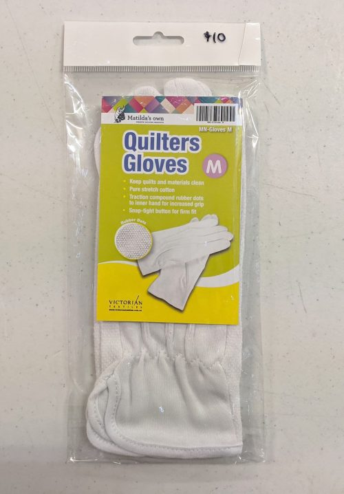 Matilda's Own Quilters Gloves Free Motion Stretch Cotton Rubber Grip Clean Fit Secure