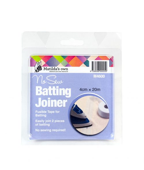 Matilda's Own Batting Joiner No Sew Batting Joiner Iron On No Sewing Quilting Wadding Sewing Victorian Textiles Old Mill OldMill Australia Dealer Discount Retailer Postage