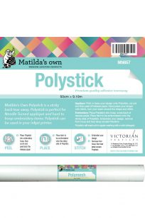 Matilda's Own Polystick Sticky Backing Madeira E-ZEE Perfect Stick Hoops Collars Embroidery Size Roll Centimetre Metre Australia Retailer Deal Discount