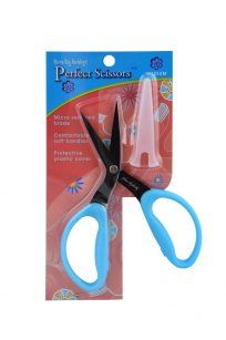 Karen Kay Buckley Perfect Scissors Large 7 inch Handle Blue Serrated Tip Edge Blade Layers Fabric Australia Postage Retailer Discount Dealer Wholesale Freight