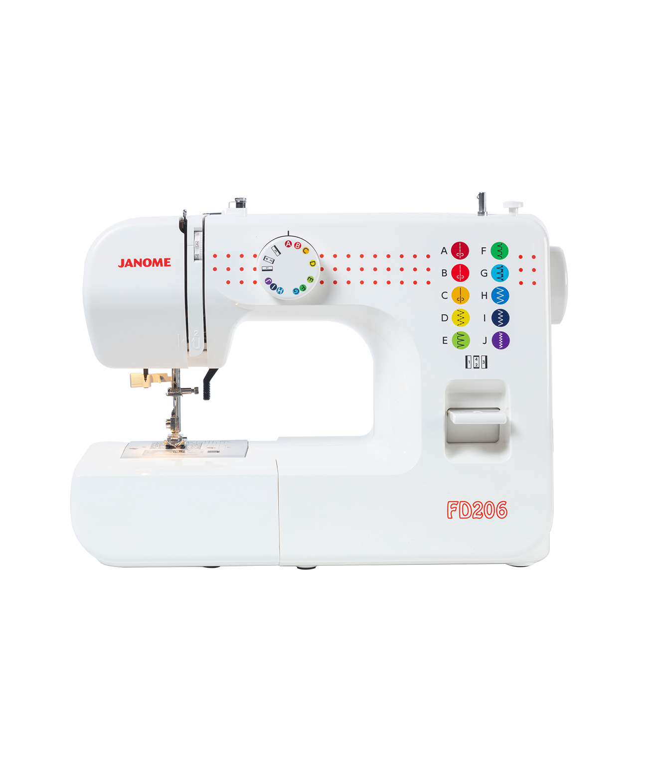 Janome FD206 Mechanical Sewer Sewing Machine Basic Beginner Spotlight Hobbysew Special Discount Cheap Easy Understand Lessons Features Straight Stitch Zig Zag Feet