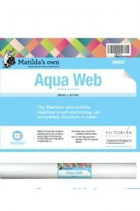 Matilda's Own Aqua Web Wash Away Washaway Stabiliser Backing Lace Lacemaking Wet N Gone Australia Retailer Dealer Discount