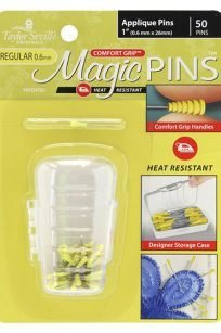 Taylor Seville Magic Pins Applique Yellow 50pc Heat Resistant Silicone Iron Proof Comfort Grip Handles Australia Retailer Dealer Discount Fine