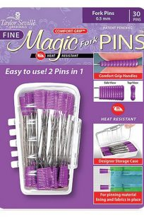Taylor Seville Magic Pins Fork Pins Craft Quilting Applique Iron Silicone Grip Heat Resistant Iron