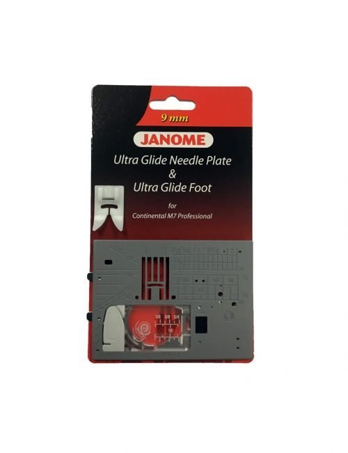 Janome Continental CM7 Teflon Foot Ultra Glide Foot and Needle Plate Australia Dealer Discount Retailer Special Freight Buy Online