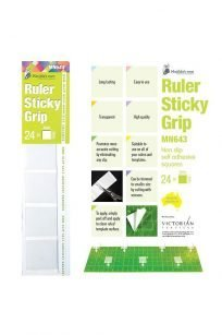 Ruler Sticky Grips Adhesive Squares Stickers Non Slip Mat Rotary Cutter Ruler Template