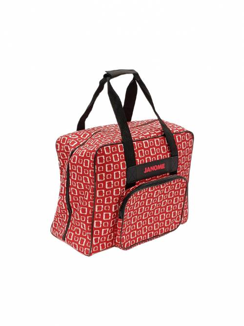 Janome Sewing Machine Carry Bag Red Cubes Pattern Print Australian Dealer Retail Discount Postage Freight