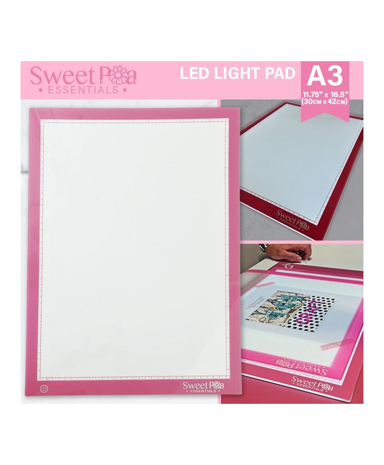 Sweet Pea Machine Embroidery Essentials A4 LED Light Pad Light Board Tracing Quilting Embroidery Accessories Buy Online Dealer Australia Retailer Discount