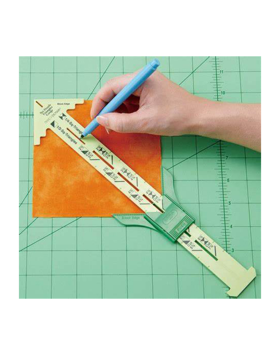 Clover No Hassle Triangles Gauge Sliding Marker USA Australia Online Dealer Discount Postage Freight Marking Quilting Embroidery Shapes Simple Gift Idea Accessory Notions