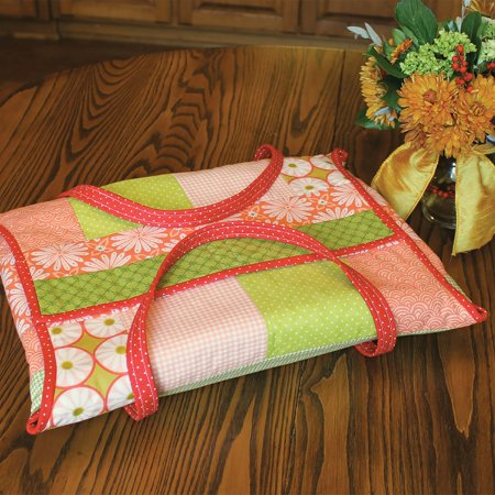 June Tailor Quilt As You Go Casserole Caddy Pattern Pre Printed Batting Sew By Number 18 Seams Shabby Fabrics Easy Beginner Quilting Sewing Online Dealer Discount Postage