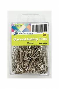 Matilda's Own Curved Safety Pins Quilting Accessories Tools Notions