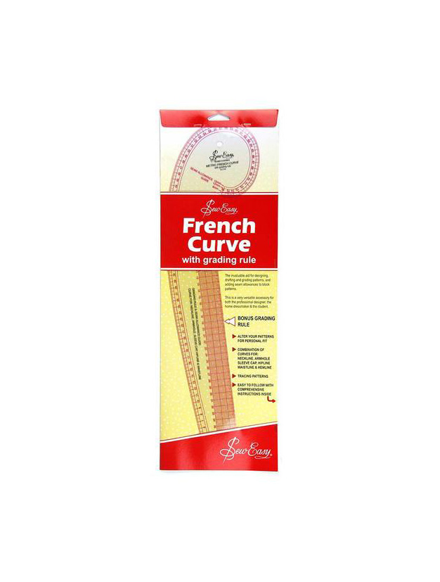 Sew Easy French Curve Ruler With Grading Rule