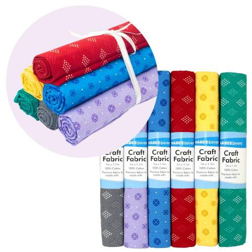 Habee Savers Craft Fabric Premium Cotton Quality 6-Pack Discount Bargain Postage Freight Online Retail Dealer